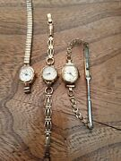 Bundle Of 3 X Vintage Ladies Watches Oris Timex Rotary Rolled Gold