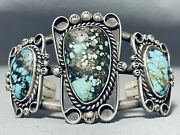 One Of The Best Museum Vintage Navajo Turquoise Sterling Silver Bracelet