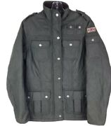 Barbour Womenand039s 6 Green Utility Forge Jacket Coat Polar Quilt Flag Detail