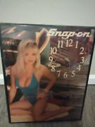 Vintage Snap-on Sexy Swimsuit Wall Clock Art