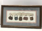 Hang Ups Print Wicker Baskets Numbered Framed Signed Martha Hinson 20andrdquox12andrdquo