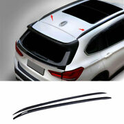 Fit For Bmw X1 F48 2016-2020 2021 Black Abs Top Roof Cargo Rack Cross Bars 2pcs