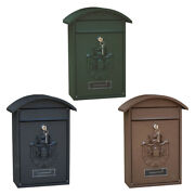 Vintage Mailbox Wall Mount Secure Locking Mail Box 26x10x36cm Front Door
