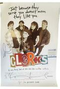Clerks Cast Signed Autographed 27x40 Poster Kevin Smith Jason Mewes Acoa