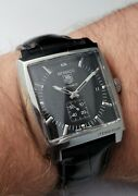 Tag Heuer Monaco Ww2110-0 Box And Papers Stainless Steel Automatic Watch
