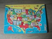 Rare 1950's Warren Built-rite United States Map Jigsaw Puzzle United States Map