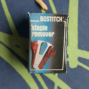 Vintage Bostitch Brown Marble Staple Remover With Box - Retro Your Home Office