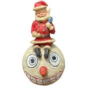 Retired Poliwoggs American Folk Art Collectibles Santa On Snowman Jointed Bunny
