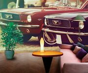3d Ford Mustang O522 Transport Wallpaper Mural Self-adhesive Removable Amy