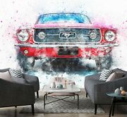 3d Ford Mustang O550 Transport Wallpaper Mural Self-adhesive Removable Amy