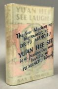 First Edition W/ Dj Sax Rohmer Yuandrsquoan Hee See Laughs Crime Club Inc. 1932
