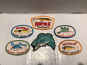 Fishing Lure Fabric Patches Whopper Stopper Rapala Hellcat Bayou Boogie Used Gc