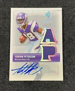2007 Sp Rookie Threads Adrian Peterson Jersey Patch Auto 7/10 Dc