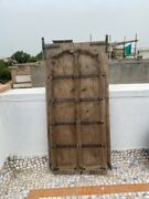 1700's Ancient Rare Wood Carved Arch Shape Floral Castle 55 X 26''jharoka Door