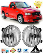 For 2001-2004 Ford F-150 Lightning Fog Lights Driving Pair Bumper Lamps Assembly