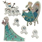 Disney Store Frozen Fever Limited Edition Pin Set Le 800 Elsa Anna Snowgies Olaf