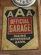 Old Vintage Maine Aaa Sign Awesome Collectible
