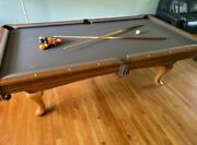 8 Foot Brunswick Pool Table Used Good Condition