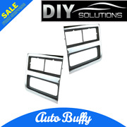 Headlight Trim Bezels Argent/gray And Chrome Left And Right Pair Set For Chevy Truck