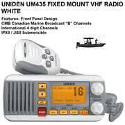 """Uniden Um435 Fixed Mount Vhf Radio With Canadian Marine Broadcast """"b"""" Channels"""
