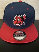 Vintage Throwback Cleveland Indians Chief Wahoo Logo Blue And Red Cap Hat New ⚾️