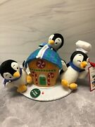 Hallmark - Gingerbread Treat Playful Penguins Musical Stuffed New 2021 Sold Out