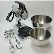 Vintage Sunbeam Mixmaster 12 Speed Mixer 2359 Black And Chrome W/ Bowls And Beaters