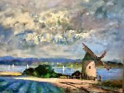 Nino Pippa Listed Original Oil Painting Provence Derelict Windmill Coa 16x20