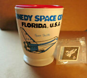 Space Shuttle Coffee Cup Mug Kennedy Space Center And Postage Stamp Collectibles