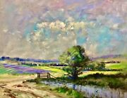 Nino Pippa Listed Original Oil Painting Provence Reflections On The Pond 16x20