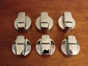 Set Of 6 Dyna Glo Gas Grill Barbecue Chrome Plastic Control Knobs
