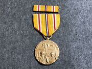 United States Wwii Asiatic-pacific Campaign Medal W/ Ribbon Bar Full Size