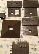 Fort Apache Playset Marx And Marx Clone Parts And Free Bag Of Cowboys And Indians