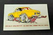 Vintage Original Corvair Sticker Unlimited Hot Rod Drag Racing Auto Water Decal