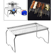 Folding Campfire Grill,stainless Steel Grate Barbeque Grill, Portable Camping