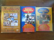 Jim Shockey Hunting Adventures Lot 5 Dvd Disc In 2 Dvd Cases. 1 Vhs Tape.sports
