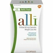 Alli Weight Loss Diet Pills Orlistat 60 Mg Capsules 120 Count Refill Pack 2022+