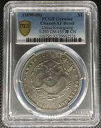 1890-08 China Kwangtung Dollar Silver Coin Y-203 Lm-133 Pcgs Xf-details