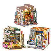 Miniature Dollhouse Wood Shop 3d Puzzles For Kids Adults Valentine's Day