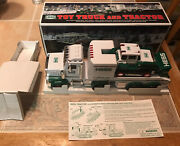 New 2013 Hess Oil Company Toy Truck And Tractor Lights And Sounds And Tracked Loader