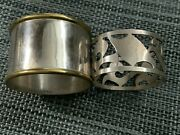 Lot Of 2 Sterling Silver Napkin Rings 1 Taxco And Mexico