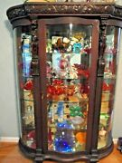 Antique Horne Curved Glass China Cabinet Figural And Claw Feet Was Kate Smithand039s
