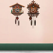 Wooden Cuckoo Clock Antique Battery Powered Wall Clocks Kitchen Wind Chime