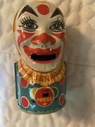 J. Chein And Co. Mechanical Clown Bank - 1940's - Tin Lithographed