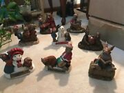 Tom Clark Gnomes Christmas Lot 8 Pcs. Limited Editions Figurinesculptures