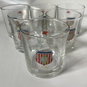 Vintage Guam National Olympic Committee Gnoc Glass Tumbler Set 6 Free Shipping