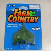 Ertl Farm Country Toy John Deere Rotary Cutter Batwing Mower Implement 1/64