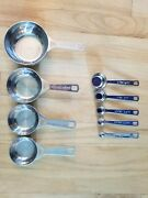 Le Creuset Stainless Steel Measuring Spoons And Cups - 9 Piece - Baking Accessory