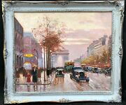 1950s French Impressionist Oil Painting Of Paris - Manner Of E. Cortes