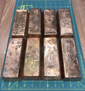 47.8 Pounds Of Hand Poured Copper Bars From Scrap Copper Wire And Pipes